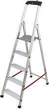 Escalera de aluminio XXL Pro 5 pasos 2.91m - Hailo