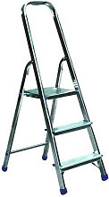 Escalera de mano para bricolaje con 3 escalones y