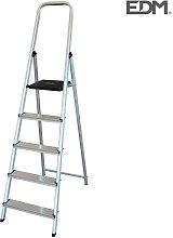 Escalera Domestica Aluminio 5 Peldanos Edm -