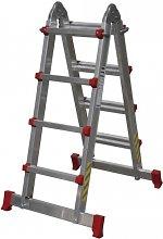 Escalera multiposición de aluminio Cofan