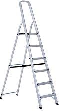 Escalera plegable 6 peldaños HomCom