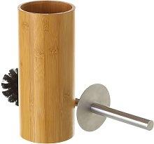 Escobilla de baño marrón de bambú nórdica de