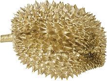 Escultura de durián dorado 25x16