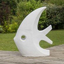 Escultura diseño pez grande blanco 100 cm