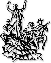 Escultura Pared Flamenco