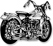 Escultura Pared Moto Harley