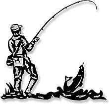 Escultura Pared Pescador
