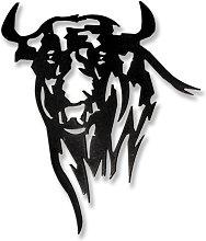 Escultura Pared Toro