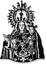 Escultura Pared Virgen