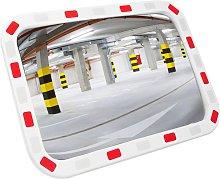 Espejo convexo rectangular de señalización