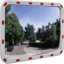 Espejo convexo rectangular para el tráfico con