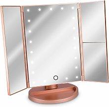 Espejo cosmético LED Espejo de pie plegable -