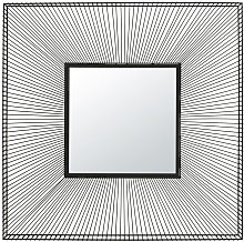 Espejo cuadrado de alambre negro 101x101