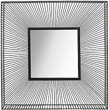 Espejo cuadrado industrial ANASTASIA - Hierro -