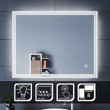Espejo de baño 70x90cm-Espejo Led con Interruptor