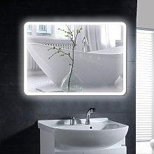 Espejo de baño con control táctil iluminado,