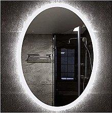 Espejo de baño iluminado con LED de 50x70 cm,