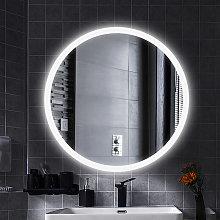 Espejo de baño, LED antiniebla, redondo Espejo de
