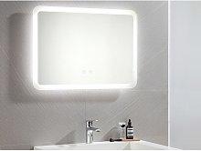 Espejo de baño luminoso rectangular con luces LED