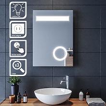 Espejo de Baño Pared 70x50cm con Iluminación