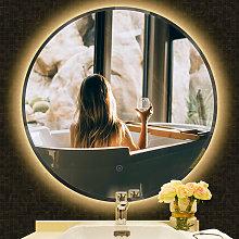 Espejo de Baño Redondo de Pared, con LED