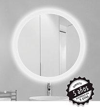 Espejo de baño redondo Roll de Bruntec anti vaho