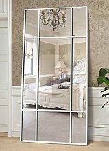 Espejo de Cuerpo Entero Rectangular Blanco [220 x