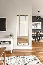 Espejo de Cuerpo Entero Rectangular Dorado [160 x