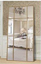 Espejo de Cuerpo Entero Rectangular Dorado [220 x