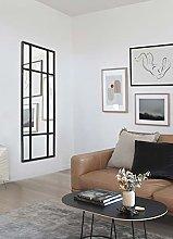 Espejo de Cuerpo Entero Rectangular Negro/Plateado