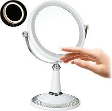 Espejo de maquillaje con luz LED, Accesorio de