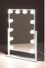 Espejo de Maquillaje con Luz LED Hollywood Blanco