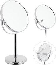Espejo de maquillaje, Doble, Aumento x10, De pie,