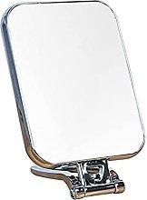 Espejo de maquillaje montado en la pared de plata