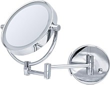 Espejo de maquillaje Sadé con LED - Plateado -