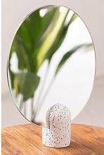 Espejo de Mesa Redondo (Ø25 cm) Onur Blanco -