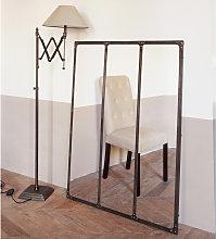 Espejo de metal con efecto envejecido 95x120