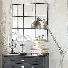 Espejo de metal negro 90x90