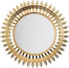 Espejo de pared ø60 cm dorado VOREY