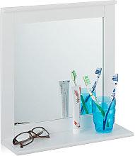 Espejo de pared con balda, Accesorio de baño,