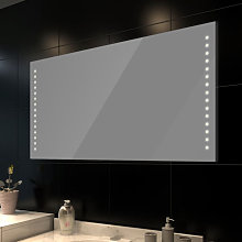 Espejo de pared con luces LED 100x60 cm Vida XL