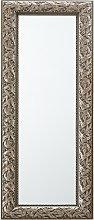 Espejo de pared con marco color plata antigua,