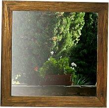 Espejo de pared cuadrado Sesamo en olmo SESAMO -