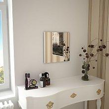 Espejo de pared cuadrado vidrio 40x40 cm - Hommoo