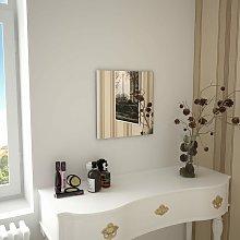Espejo de pared cuadrado vidrio 40x40 cm