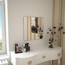 Espejo de pared cuadrado vidrio 50x50 cm - Hommoo