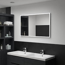 Espejo de pared de baño con LED 100x60cm Vida XL