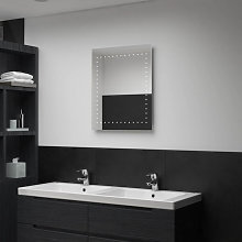 Espejo de pared de baño con LED 50x60cm Vida XL