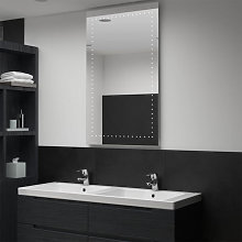 Espejo de pared de baño con LED 60x100cm Vida XL