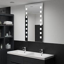 Espejo de pared de baño con LED 60x100cm Vida XL
